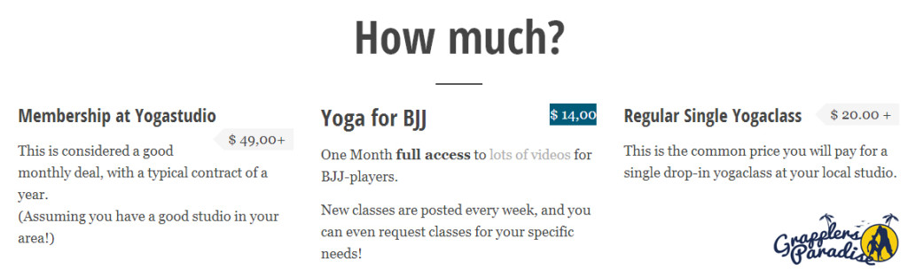Price Yoga for Bjj